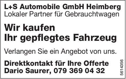 L+S Automobile GmbH Heimberg - Wir kaufen Ihr gepflegtes Fahrzeug