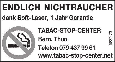 TABAC-STOP-CENTER - ENDLICH NICHTRAUCHER DANK SOFT-LASER