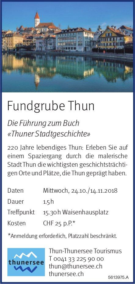 Thun-Thunersee Tourismus - Fundgrube Thun, 24.10. + 14.11.
