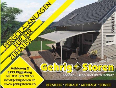 Pergola-Anlagen für Ihr Zuhause, Gehrig Storen