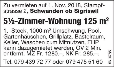 5½-Zimmer-Wohnung 125 m2 in strasse 2, Schwanden ob Sigriswil zu vermieten