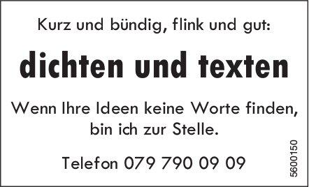 Kurz und bündig, flink und gut: dichten und texten