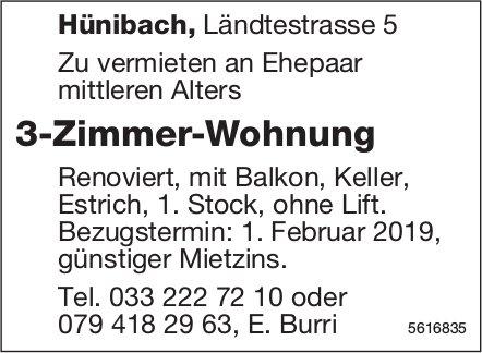 3-Zimmer-Wohnung in Hünibach zu vermieten