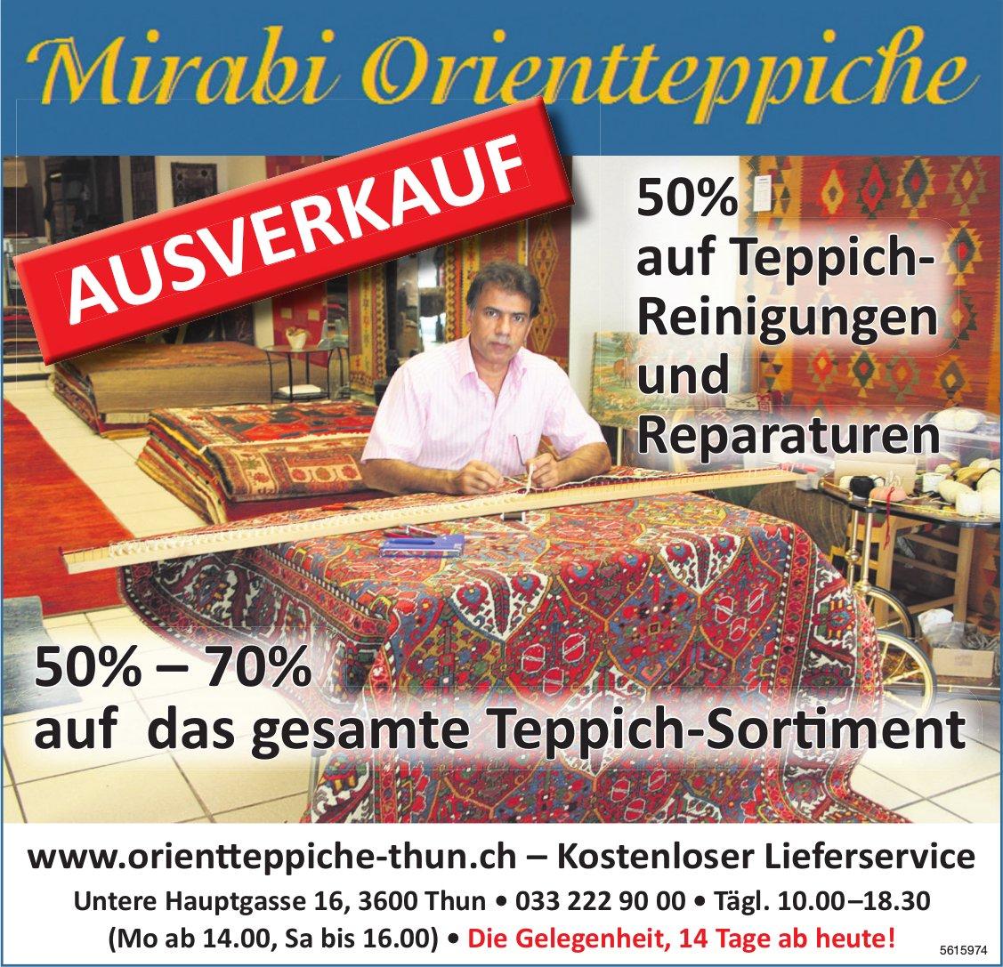 Mirabi Orientteppiche, Ausverkauf