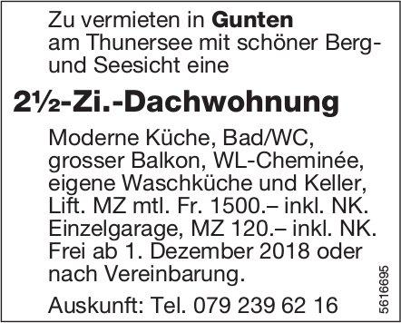 2½-Zi.-Dachwohnung in Gunten zu vermieten