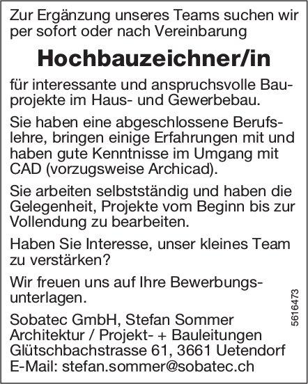 Hochbauzeichner/in bei Sobatec GmbH gesucht