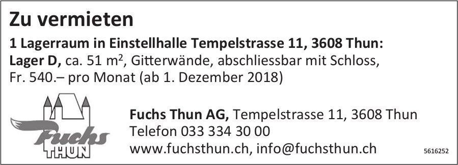 1 Lagerraum in Einstellhalle  in Thun zu vermieten