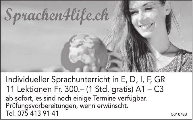 Sprachen4life.ch