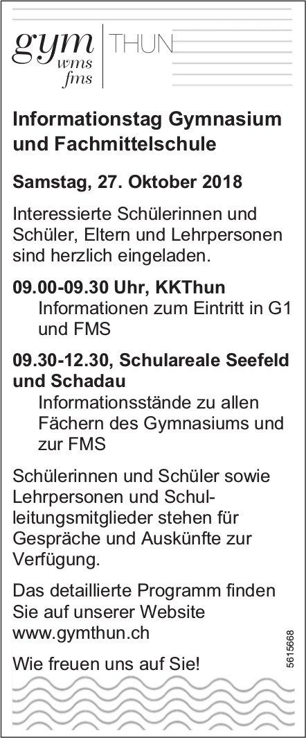 Infotag Gymnasium, 27. Oktober