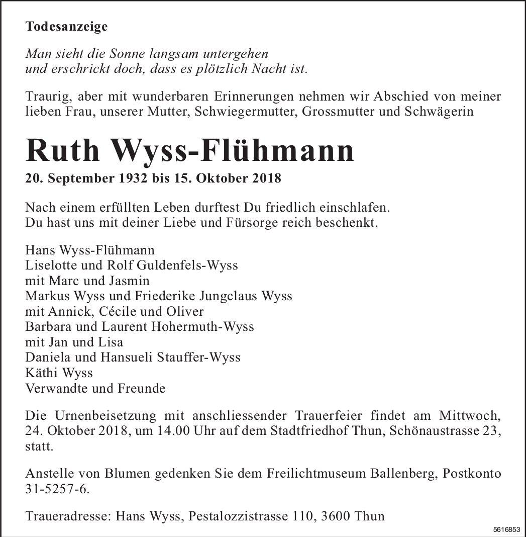 Wyss-Flühmann Ruth, Oktober 2018 / TA