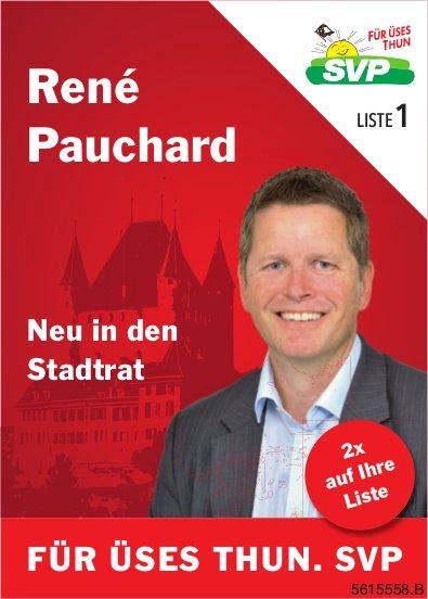 René Pauchard Neu in den Stadtrat - FÜR ÜSES THUN. SVP