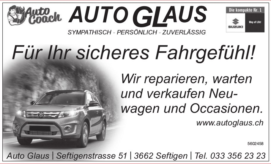 Auto Glaus - Für Ihr sicheres Fahrgefühl!