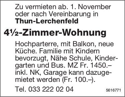 4½-Zimmer-Wohnung in Thun-Lerchenfeld zu vermieten