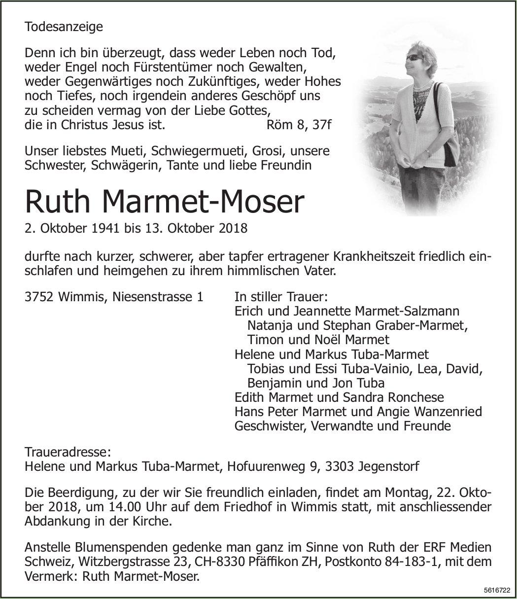 Marmet-Moser Ruth, Oktober 2018 / TA