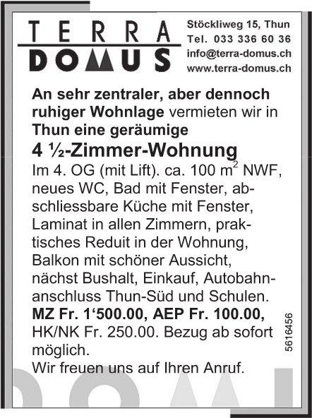 4.5-Zimmer-Wohnung in Thun zu vermieten