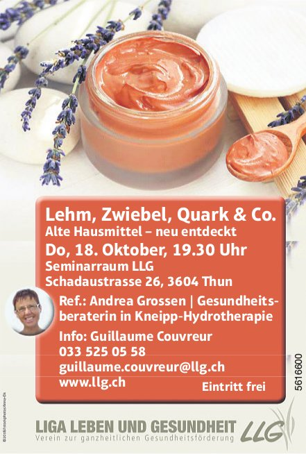 LLG - Lehm, Zwiebel, Quark & Co. Referat am 18. Oktober