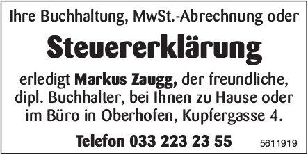 Steuererklärung, Markus Zaugg