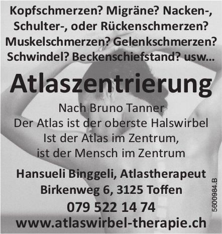 Atlaszentrierung, Hansueli Binggeli