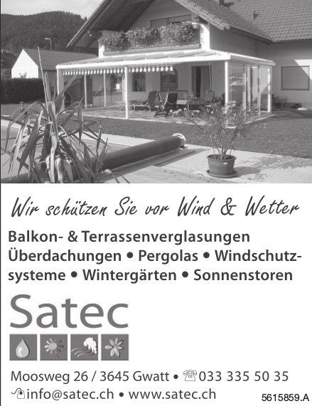 Wir schützen Sie vor Wind & Wetter, Satec