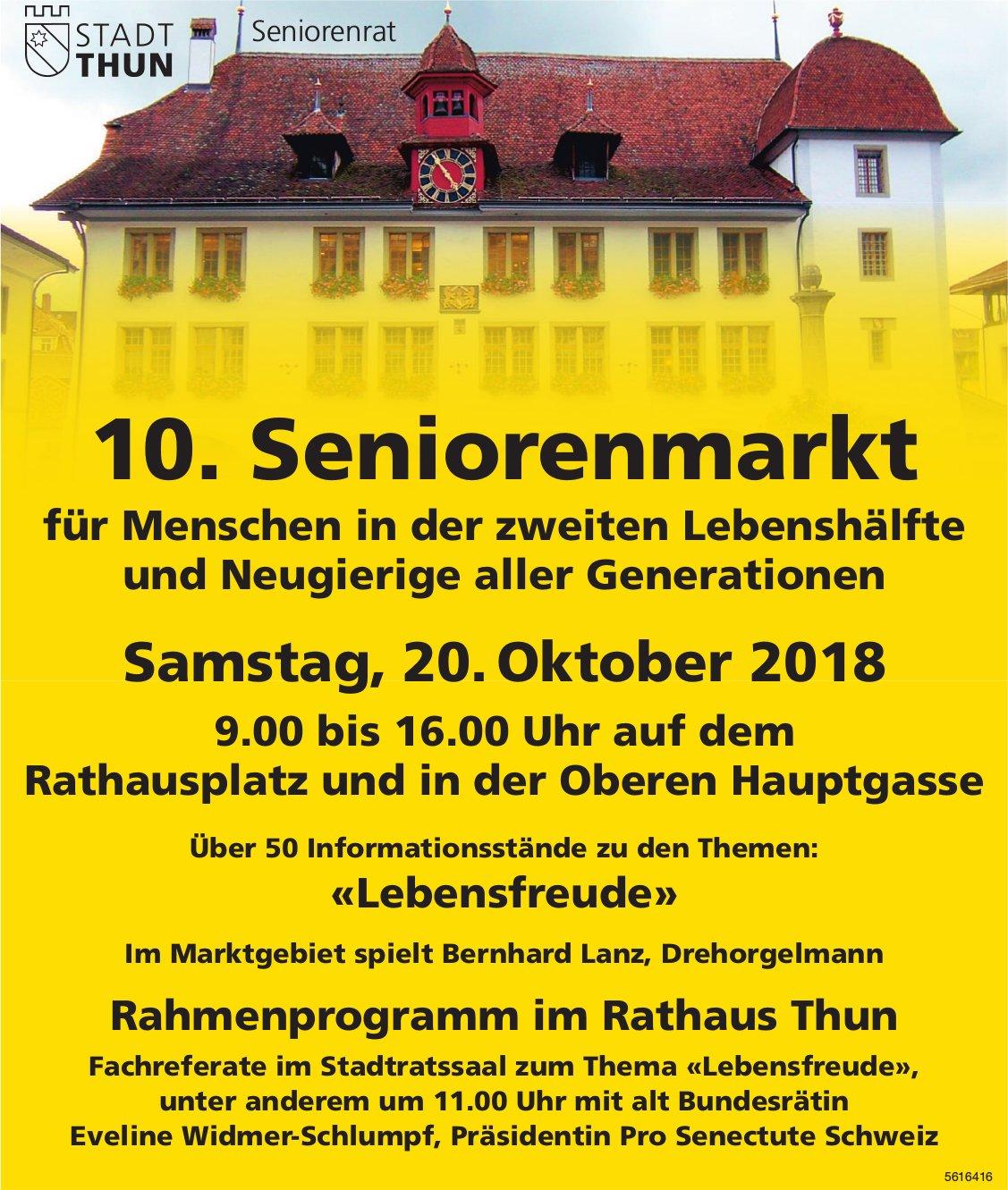 10. Seniorenmarkt am 20. Oktober