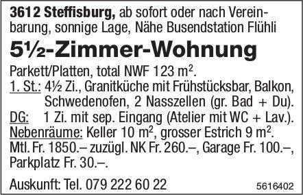 5½-Zimmer-Wohnung in Steffisburg zu vermieten