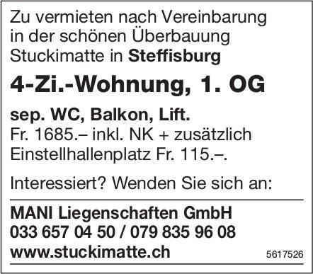 4-Zi.-Wohnung, 1. OG in Steffisburg zu vermieten