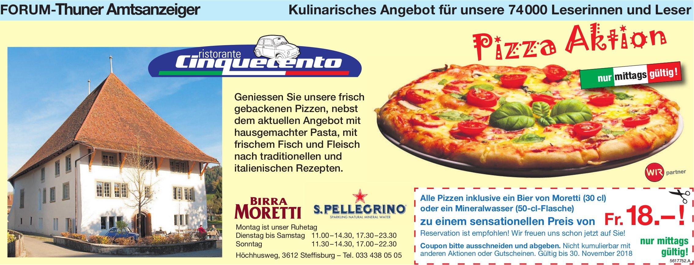 Forum-Thuner Amtsanzeiger - Ristorante Cinquecento: Pizza Aktion
