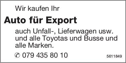 Wir kaufen Ihr Auto für Export auch Unfall-, Lieferwagen usw.