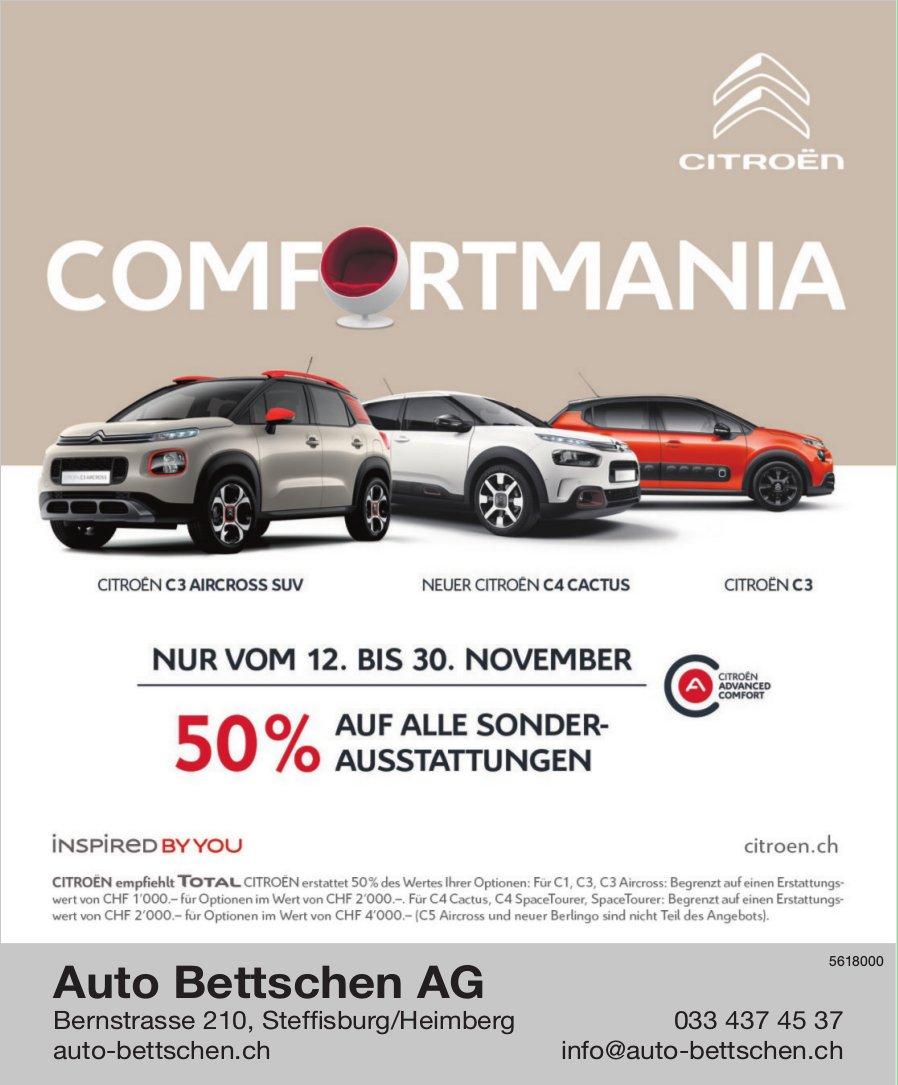 Auto Bettschen AG, Steffisburg/Heimberg - COMFORTMANIA, 12. - 30. November