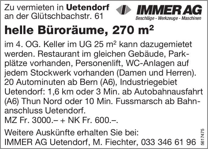 Helle Büroräume, 270 m2, in Uetendorf zu vermieten