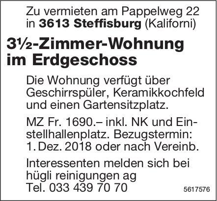 3½-Zimmer-Wohnung im Erdgeschoss in Steffisburg zu vermieten
