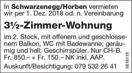 3½-Zimmer-Wohnung in Schwarzenegg/Horben zu vermieten