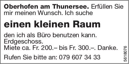 Einen kleinen Raum in Oberhofen am Thunersee zu vermieten