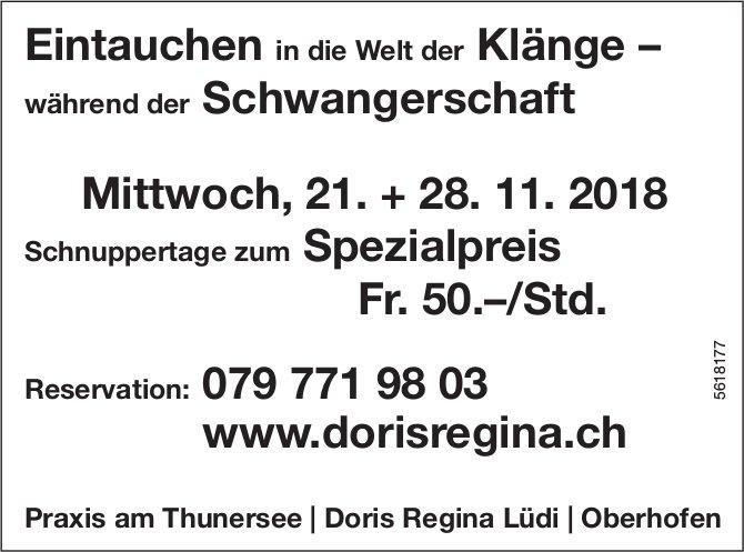 Eintauchen in die Welt der Klänge – während der Schwangerschaft, 21. + 28. November, Oberhofen
