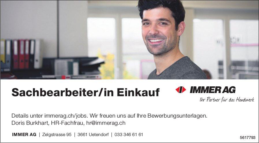 Sachbearbeiter/in Einkauf, IMMER AG, Uetendorf, gesucht