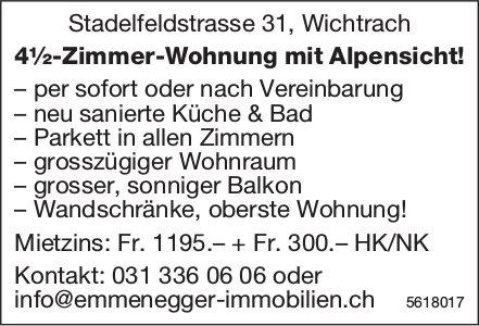 4½-Zimmer-Wohnung mit Alpensicht in Wichtrach zu vermieten