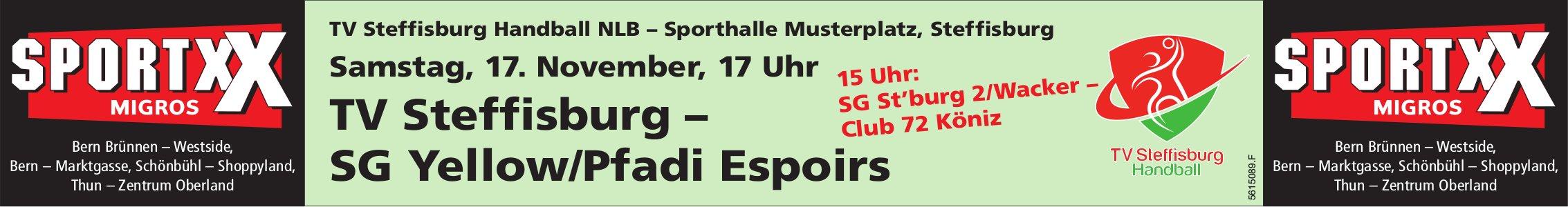 TV Steffisburg Handball NLB vs. SG Yellow/Pfadi Espoirs am 17. November