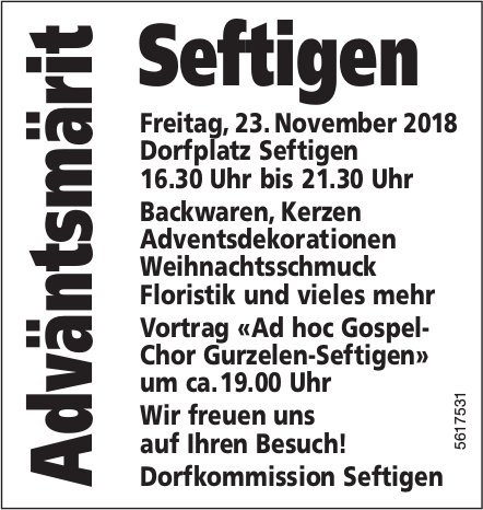 Adväntsmärit Seftigen am 23. November