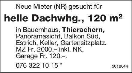 Helle Dachwhg., 120 m2 in Bauernhaus in Thierachern zu vermieten