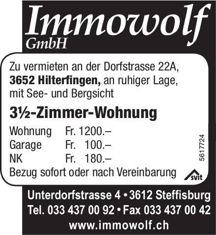3½-Zimmer-Wohnung in Hilterfingen zu vermieten