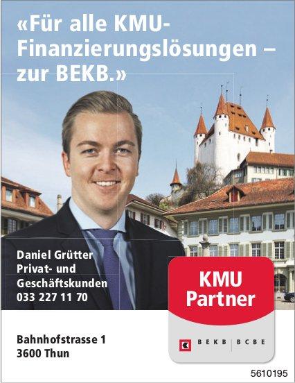 «Für alle KMU- Finanzierungslösungen – zur BEKB.»