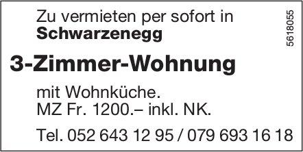 3-Zimmer-Wohnung in Schwarzenegg zu vermieten