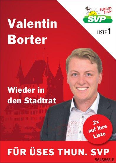 Valentin Borter - Wieder in den Stadtrat