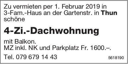4-Zi.-Dachwohnung in Thun zu vermieten
