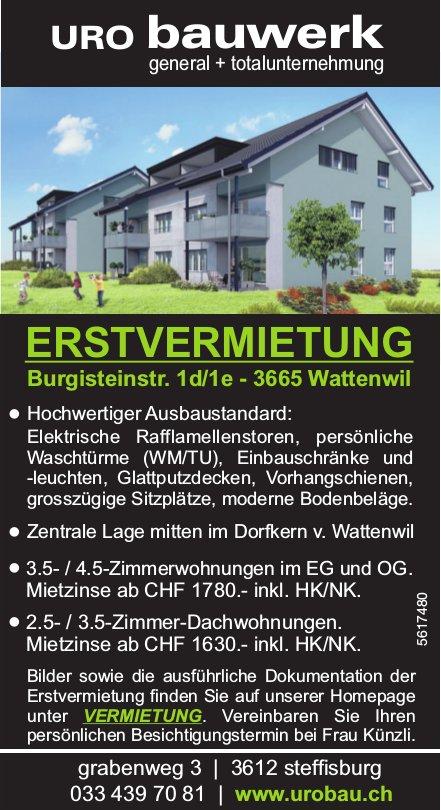 ERSTVERMIETUNG 2.5- bis 4.5-Zimmerwohnungen in Wattenwil