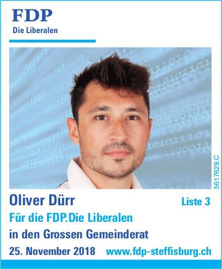 Oliver Dürr Für die FDP.Die Liberalen in den Grossen Gemeinderat