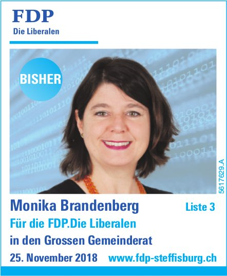 Monika Brandenberg in den Grossen Gemeinderat