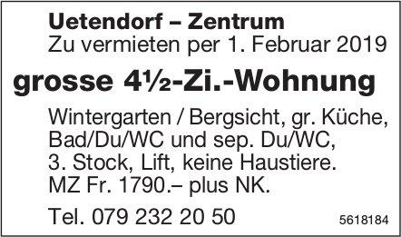 Grosse 4½-Zi.-Wohnung in Uetendorf-Zentrum zu vermieten