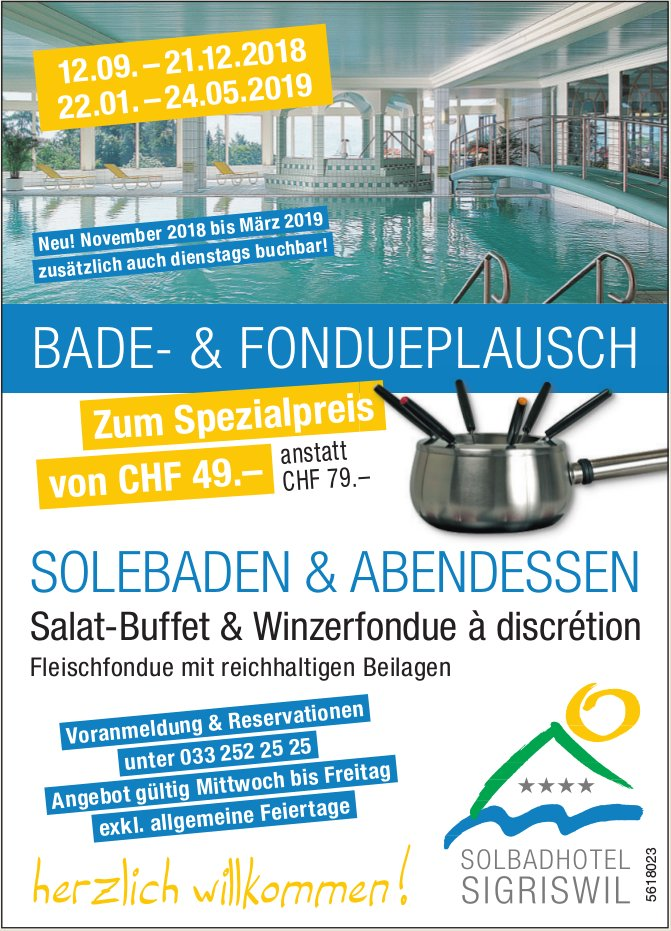Solbadhotel Sigriswil - Bade- & Fondueplausch