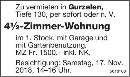 4½-Zimmer-Wohnung in Gurzelen zu vermieten / Besichtigung am 17. Nov.